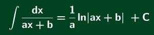 công thức nguyên hàm