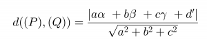 công thức tính khoảng cách giữa 2 mặt phẳng