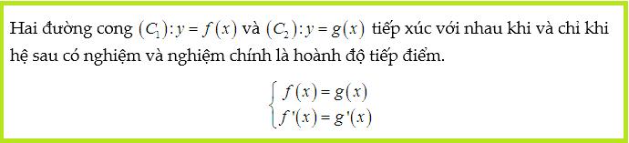 Điều kiện tiếp xúc trong viết phương trình tiếp tuyến của đồ thị hàm số