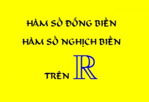 để hàm số đồng biến trên R