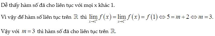 tìm a để hàm số liên tục trên r