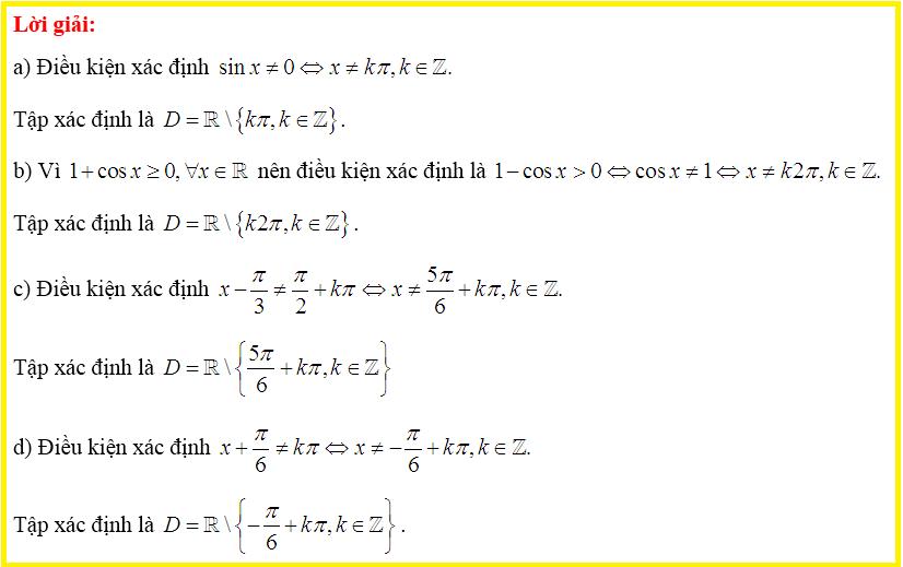 Bài 2 -lời giải bài tập SGK Đại số và Giải tích 11-trang 17