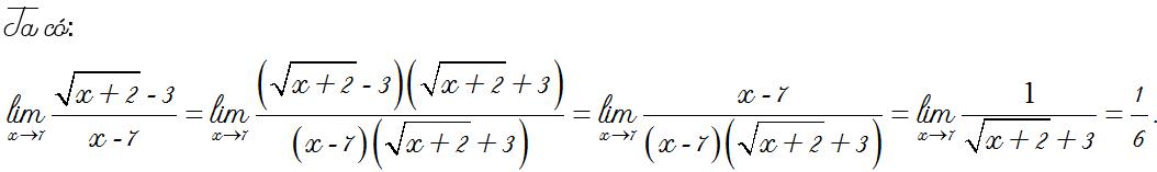 bài tập giới hạn hàm số
