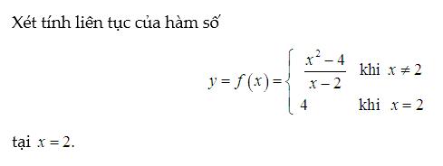bài tập hàm số liên tục có lời giải