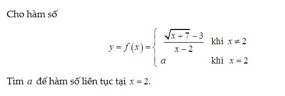 bài tập hàm số liên tục nâng cao