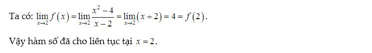 bài tập xét tính liên tục của hàm số có đáp án