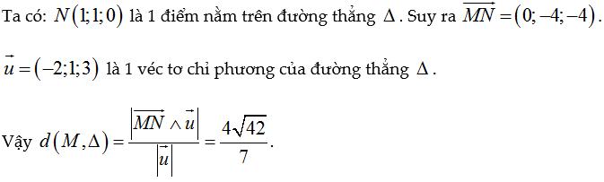 ct khoảng cách từ 1 điểm đến 1 đường thẳng