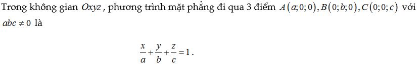 lập phương trình mặt phẳng
