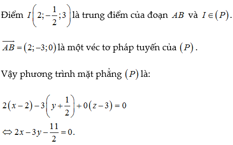 phương trình mặt phẳng lớp 12