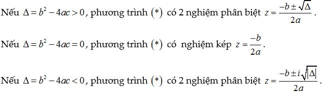 giải phương trình số phức bậc 2