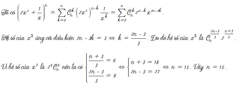 bài tập về nhị thức newton có lời giải