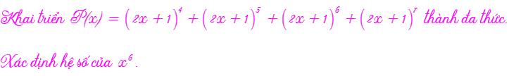 tổng của nhiều nhị thức Newton