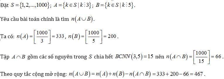 bài tập quy tắc đếm lớp 11 có lời giải