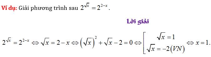 giải phương trình mũ logarit