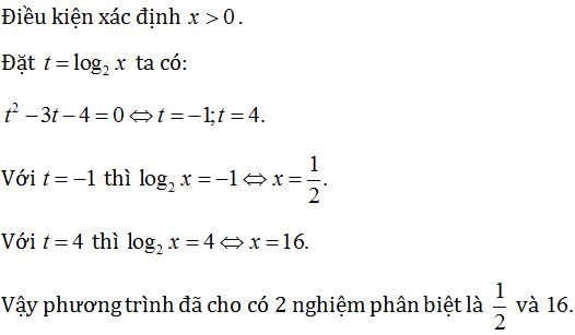 phương pháp giải phương trình logarit