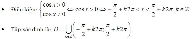 cách tìm tập xác định của hàm số lớp 11