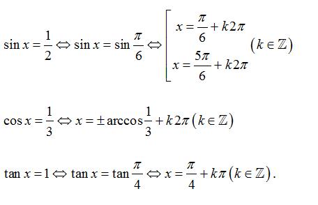 ví dụ phương trình lượng giác cơ bản