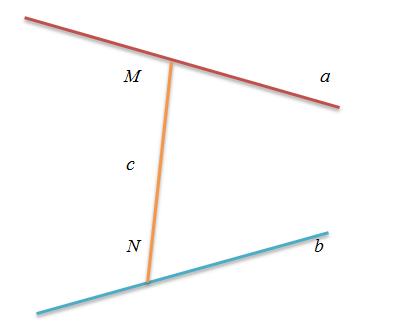 khoảng cách giữa hai đường thẳng chéo nhau