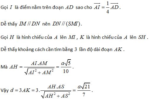 bài tập khoảng cách giữa hai đường thẳng chéo nhau